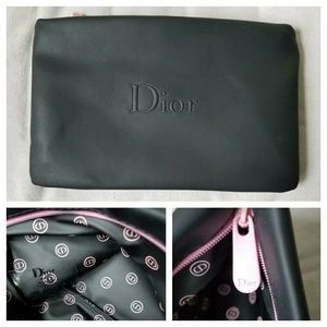 Christian Dior Black Wallet or Cosmetic Bag